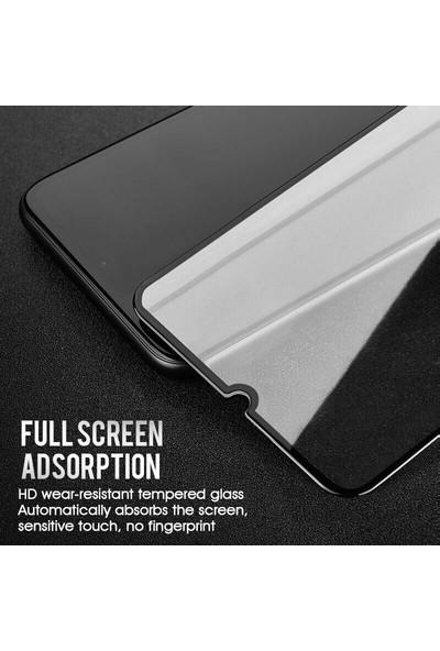 Microsonic Samsung Galaxy M30s Tam Kaplayan Temperli Cam Ekran Koruyucu - Siyah