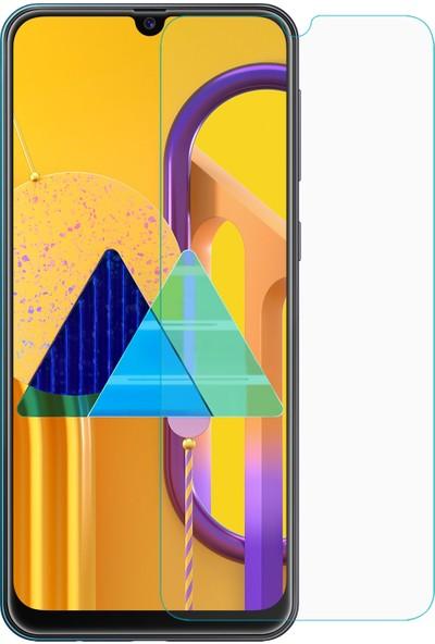 Microsonic Samsung Galaxy M30s Temperli Cam Ekran Koruyucu - Şeffaf