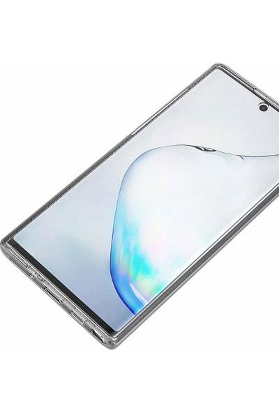Microsonic Samsung Galaxy Note 10 Plus Kılıf 6 tarafı tam full koruma 360 Clear Soft - Şeffaf