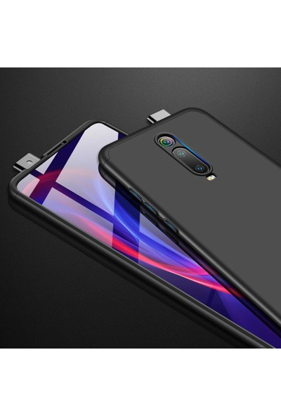 Microsonic Xiaomi Redmi K20 Kılıf Double Dip 360 Protective - Siyah