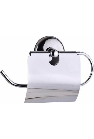 Alper Banyo Yapışkanlı Geniş Kapaklı Kağıtlık Krom