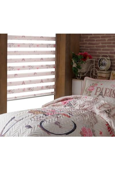 Asper Paris Love Eyfel Kulesi Kız Çocuk Odası Zebra Perde