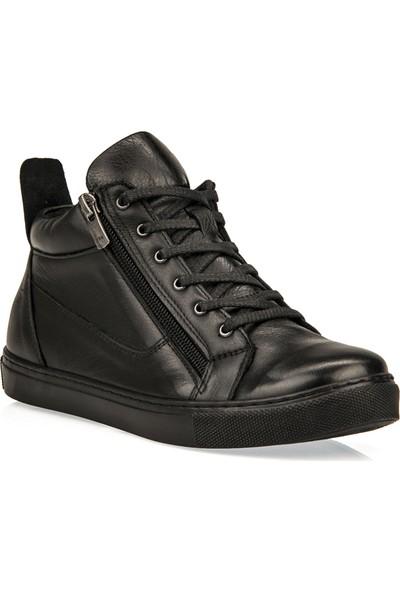 Uniquer Kadın Hakiki Deri Ayakkabı 93499U 1570 Siyah