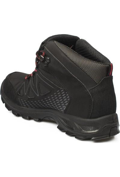 Scooter Siyah Erkek Trekking Bot Ve Ayakkabısı M5536Tsk Su Gecirmez Tekstil Bot Tekstil Siyah Kirmizi
