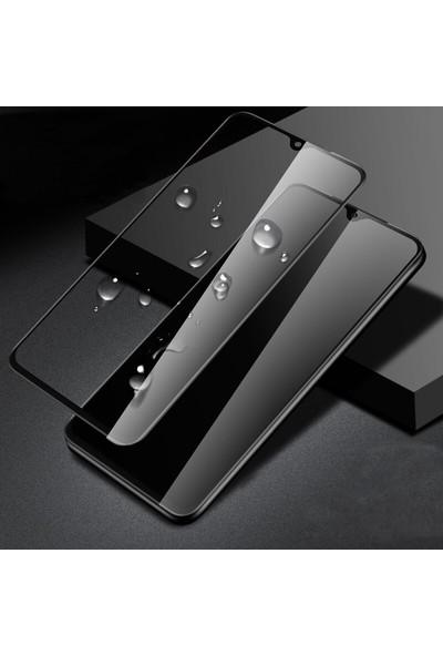 Happyshop Xiaomi Mi 9 Lite Kenarı Kırılmaya Dayanıklı Full Yapışan 5D Cam Ekran Koruyucu Siyah