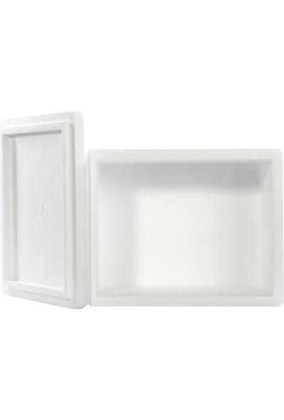 Viyol Pazarı Strafor Köpük Kutu 26.6x16.2x15.5 cm 1 kg - 1 Adet D-2