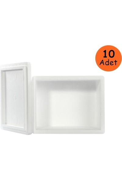 Viyol Pazarı Strafor Köpük Kutu 26.6x16.2x15.5 cm 1 kg - 10 Adet D-2