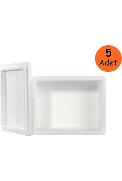 Viyol Pazarı Strafor Köpük Kutu 26.6x16.2x15.5 cm 1 kg - 5 Adet D-2