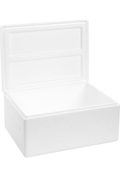 Viyol Pazarı Strafor Köpük Kutu 26.6x20,7x17,3 cm 1,5 kg - 10 Adet D-3