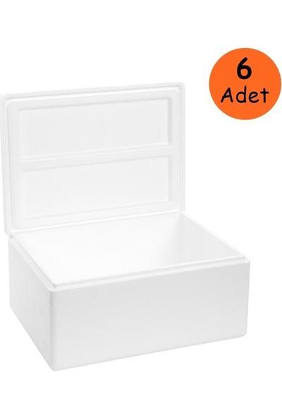 Viyol Pazarı Strafor Köpük Kutu 28,8x23x16,5 cm 2 kg - 1 Adet D-4