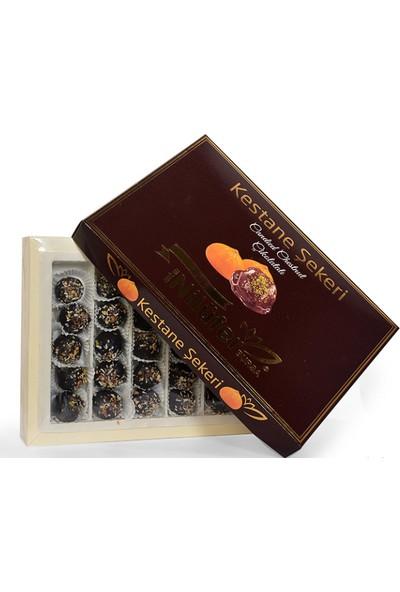 Nilüfer Kestane Şekeri Çikolatalı Fındıklık Hediyelik Kutu 750 gr