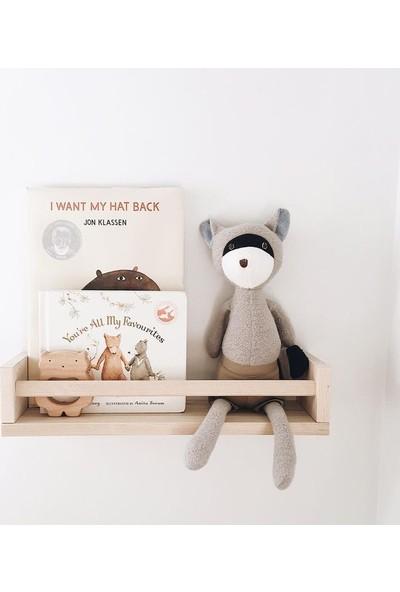Orenccraft Ahşap Bebek Çocuk Odası Duvar Rafı Kitaplık Eğitici Raf