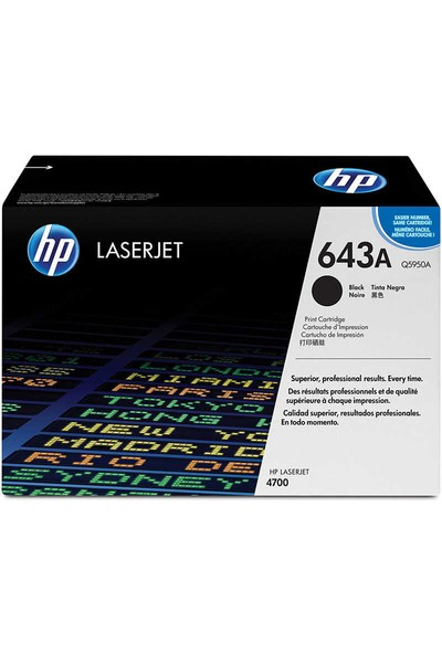 HP Q5950A TONER 643A 1100 Sayfa Siyah