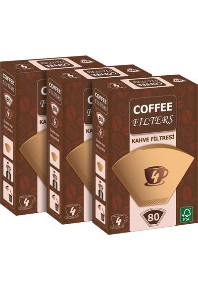 Coffee Filters Filtre Kahve Kağıdı No:4 80'li @ 3 Paket