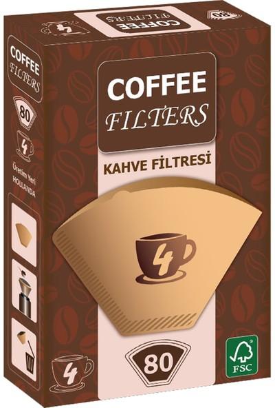 Coffee Filters Filtre Kahve Kağıdı No:4 80'li Paket