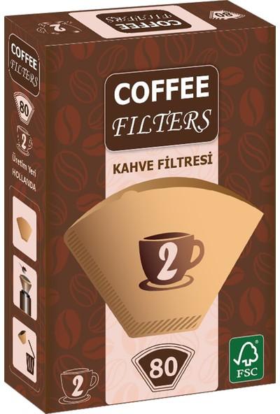 Coffee Filters Filtre Kahve Kağıdı No:2 80'li Paket