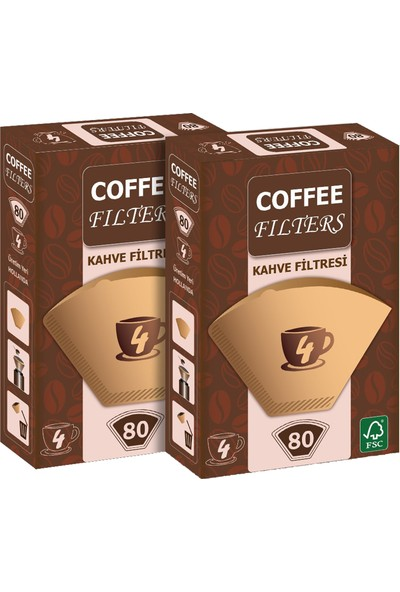 Coffee Filters Filtre Kahve Kağıdı No:4 80'li @ 2 Paket
