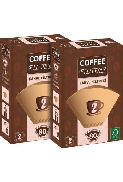 Coffee Filters Filtre Kahve Kağıdı No:2 80'li @ 2 Paket