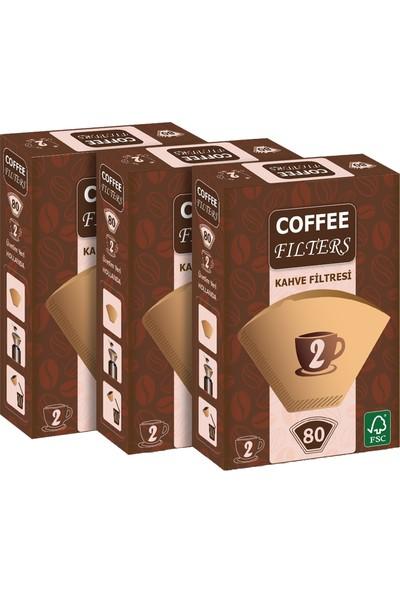 Coffee Filters Filtre Kahve Kağıdı No:2 80'li @ 3 Paket