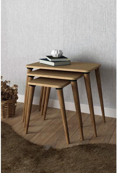 Sanal Mobilya Ninova Zigon Sehpa Bambu