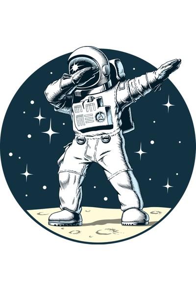 Sim Tasarım Astronot Duvar Sticker
