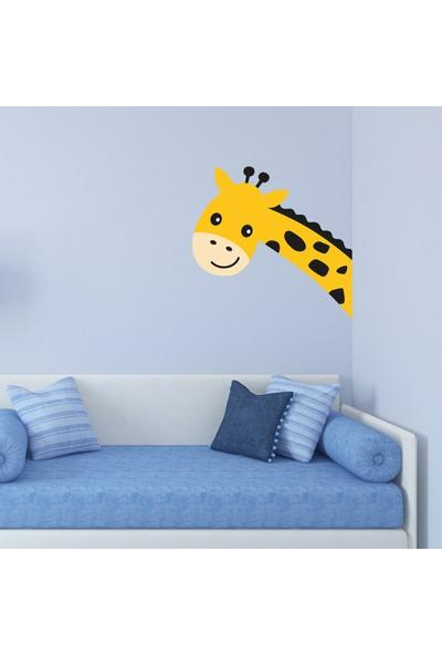 Sim Tasarım Zürafa Kafa Duvar Sticker