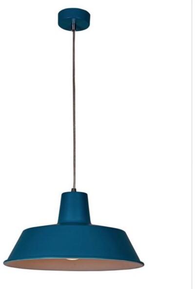 Riolight Metal Mavi Içi Beyaz Sarkıt Çap 38 cm