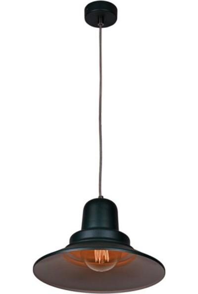 Riolight Metal Siyah Içi Sarı Sarkıt Çap 30 cm