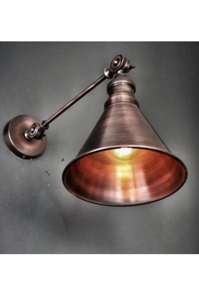 Riolight Retro Mafsallı Bakır Eskitme Aplik Çap 19 cm