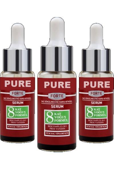 Pure Forte 3'lü Saç Serumu-3 Adet-3 Aylık Kullanım