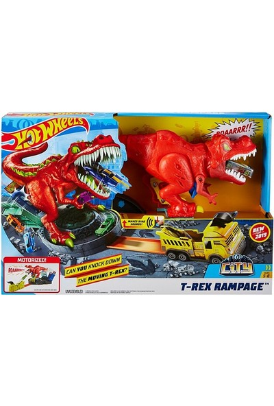 Mattel Hot Wheels T-Rex Saldırısı Oyun Seti GFH88
