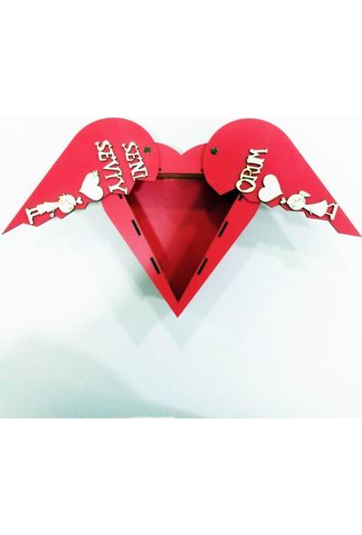 Bakal Online Kalpli Sevgiliye Özel Ahşap El Yapımı Kutu