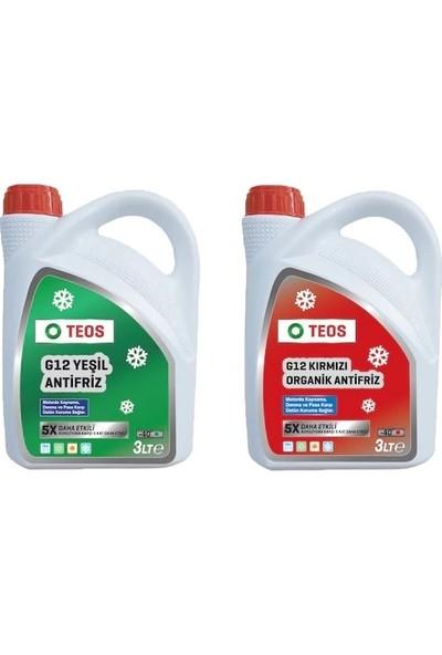 Teos -40° Organik Kırmızı Antifriz + Teos -40° Organik Yeşil