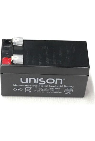 Unison 12V 1.3A Kuru Bakımsız Akü