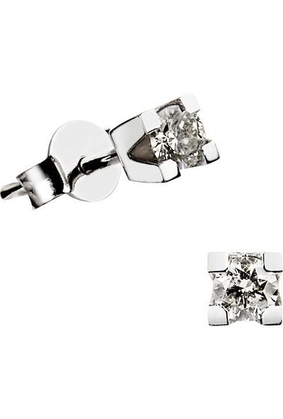 Clavis Jewelry Tektaş Pırlanta Küpe (CKP0435)