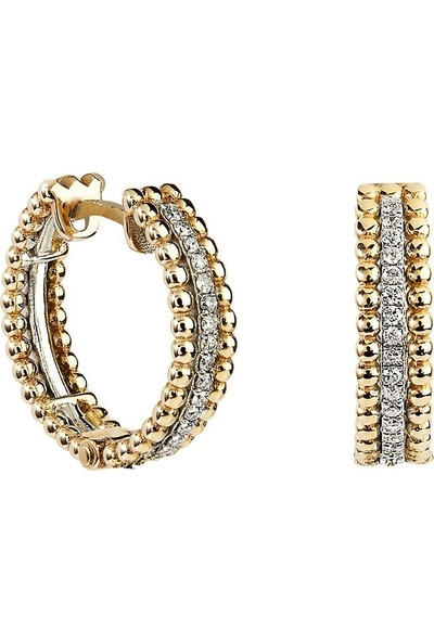 Clavis Jewelry Pırlantalı Halka Küpe (CKP0887)