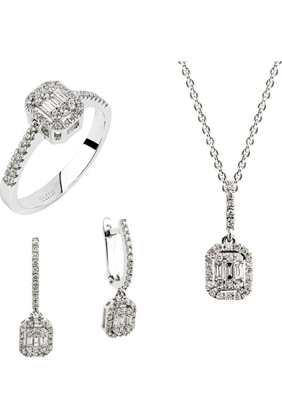 Clavis Jewelry Baget Pırlantalı Küpe (CKP0727)