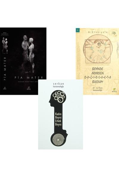 Pia Mater - Kadın Beyni Erkek Beyni - Beyinde Ararken Bağırsakta Buldum 3 Kitap Seti - Serkan Karaismailoğlu