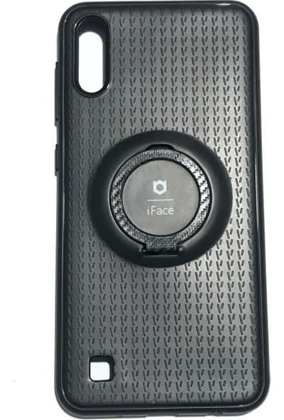 iface Samsung A10 iface Yüzüklü Standlı Mıknatıslı Kılıf