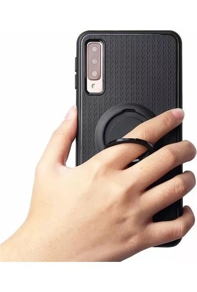 iface Samsung A20 iface Yüzüklü Standlı Mıknatıslı Kılıf