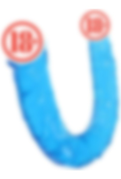 Meyra Best Çift Taraflı Jel Dildo Penis 28 cm Mavi
