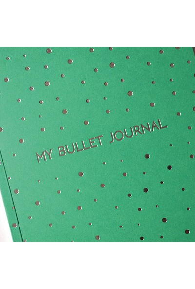 Pulp Bullet Journal Green Noktalı Defter (A5)