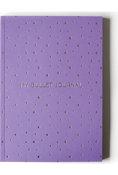 Pulp Bullet Journal Purple Noktalı Defter (A5)
