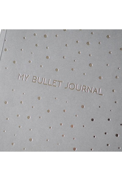 Pulp Bullet Journal Grey Noktalı Defter (A5)