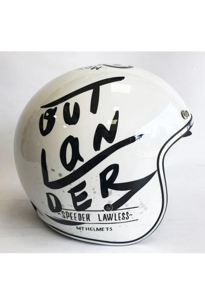 MT Kask Le Mans 2 Sv Outlander A1 Brıllo Blanco Yarım Kask
