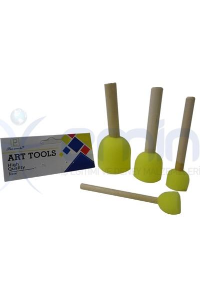 Art Pat Pat Fırça Ponpon Fırça Seti 4'lü
