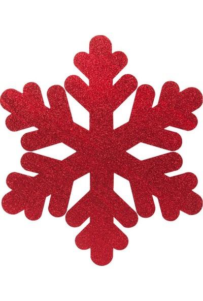Kikajoy Yılbaşı Strafor Kar Tanesi Kırmızı 50 cm