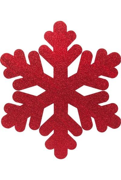 Kikajoy Yılbaşı Strafor Kar Tanesi Kırmızı 25 cm