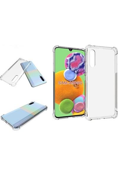 Ssmobil Samsung Galaxy A90 5G Silikon Kılıf SS-31351 Şeffaf