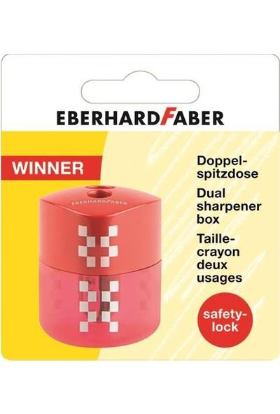Eberhard Faber Winner Çiftli Kalemtraş Kırmızı Blisterli